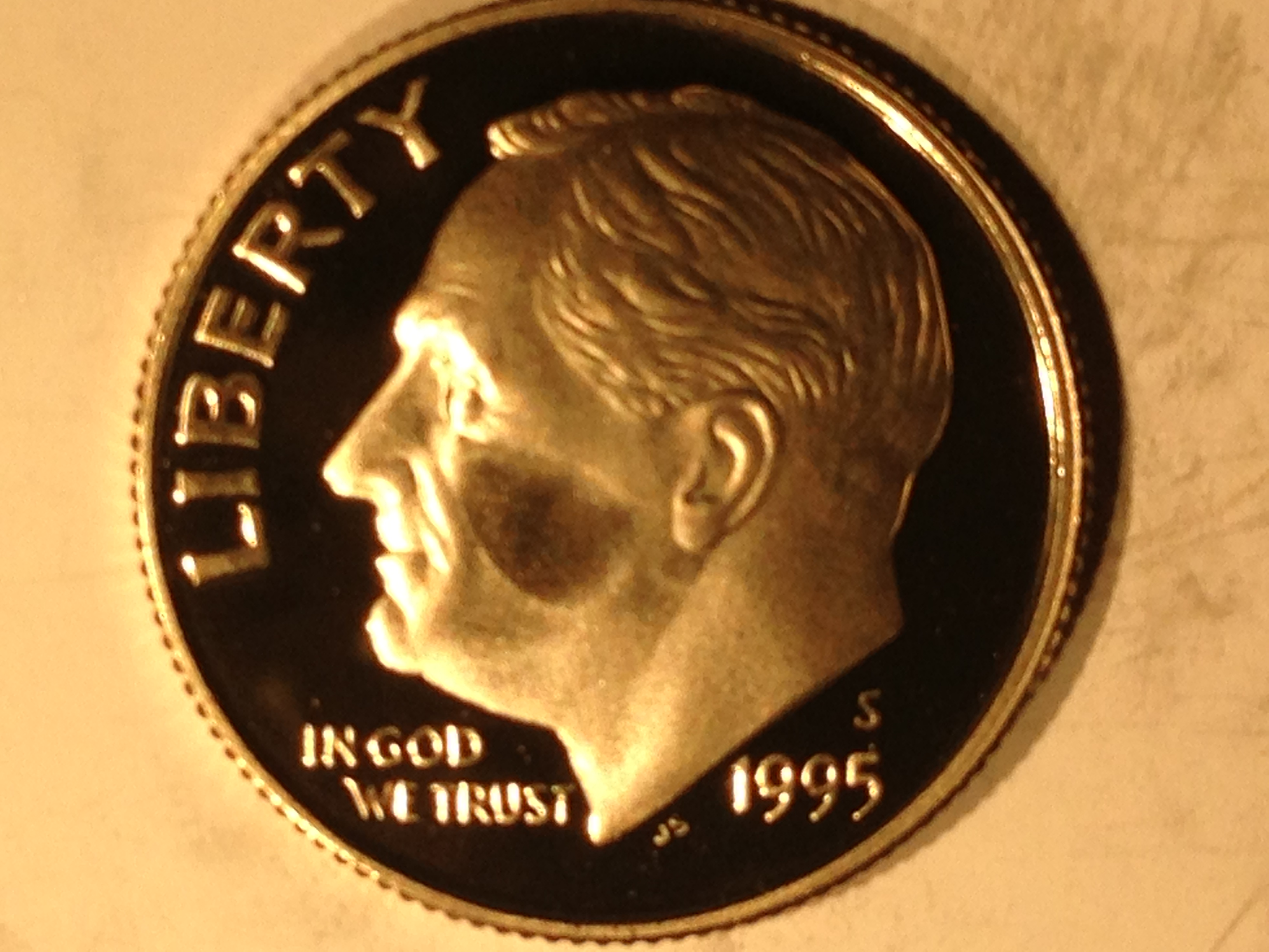 1995-S Proof Silver Roosevelt Dime