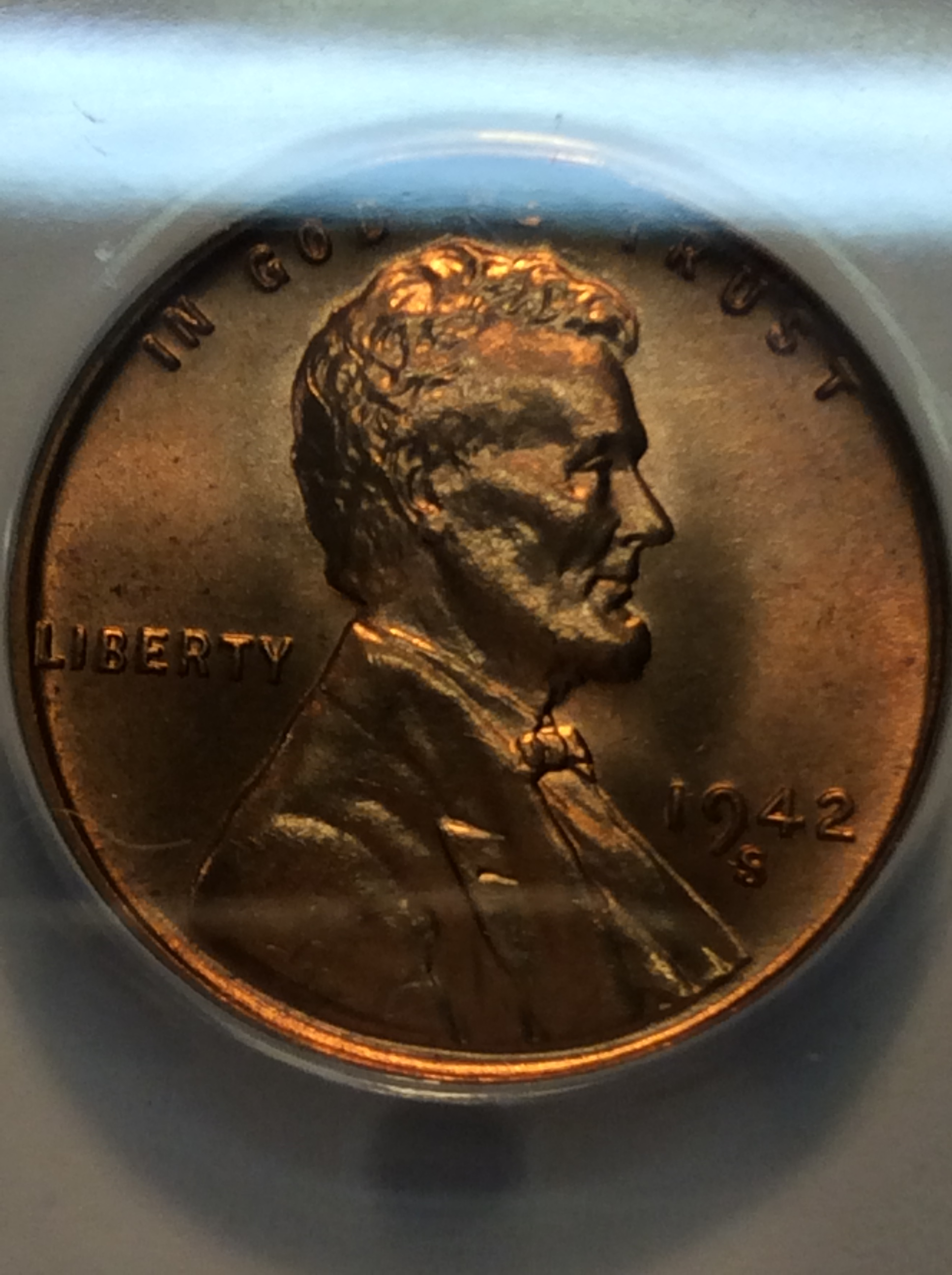 1942 S/S Lincoln Cent ANACS MS-66 Red